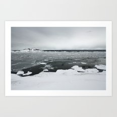 Ice on Lake Superior Art Print
