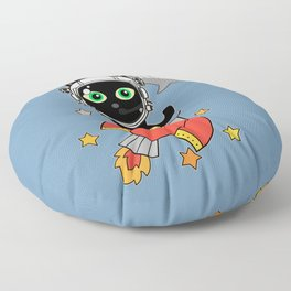 Space Cat - Houston we have a problem Floor Pillow