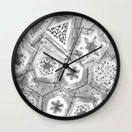 Koch Snowflakes Wall Clock