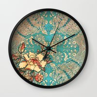 hibiscus Wall Clocks featuring Hibiscus by Kriti