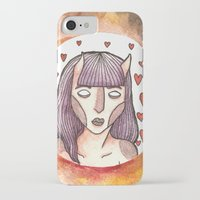 devil iPhone & iPod Cases featuring Devil by Jazmine Phillips