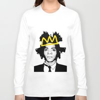 basquiat Long Sleeve T-shirts featuring BASQUIAT YELLOW by SebinLondon