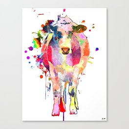 Colored Cow Canvas Print