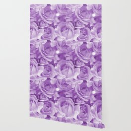 Violet Rose Bouquet For You - Valentine's Day #decor #society6 #homedecor Wallpaper