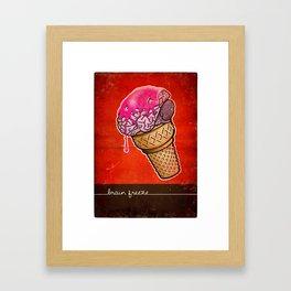 Brain Freeze! Framed Art Print