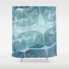 Winter geometric style - minimalist Shower Curtain
