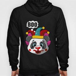 Clown Panda Halloween Joker Makeup on a Cute Panda Dark Hoody