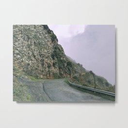 Street of Sicily mountains Metal Print