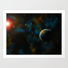 Deus Nebula Art Print