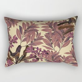 Purple Leaves Rectangular Pillow