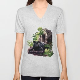 Protector of ancient tempels Unisex V-Neck