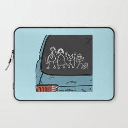 Honest Stick Figure Family Laptop Sleeve