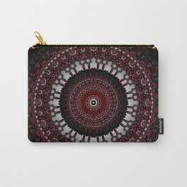 Decorative Red Mandala Design Carry-All Pouch