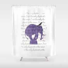 the only elephant Shower Curtain