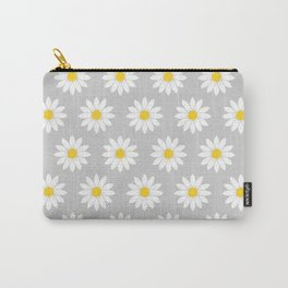 Daisies in Gray Carry-All Pouch