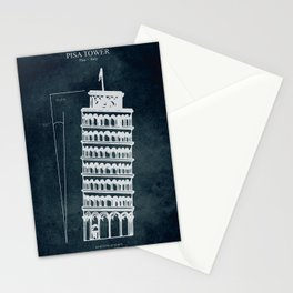 Pisa Tower Stationery Cards