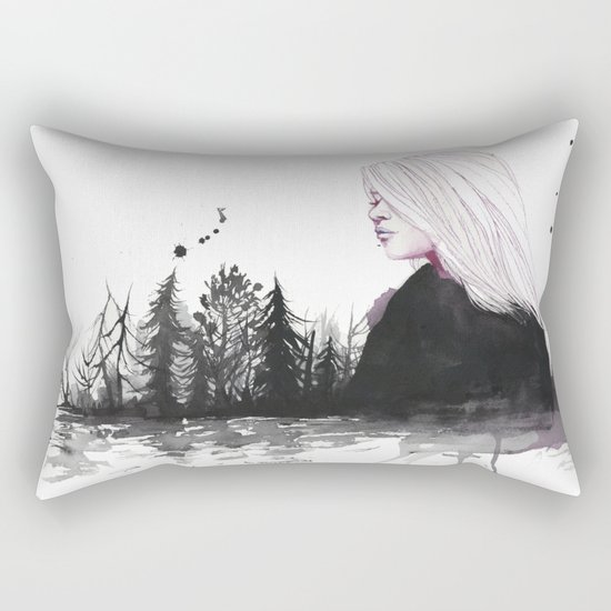 dried-out rivers Rectangular Pillow