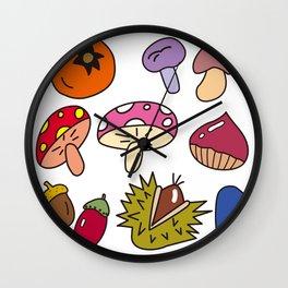 Autumn Harvest_F Wall Clock
