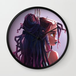 Goddess Locs Wall Clock