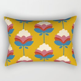 Vintage floral pattern- yellow background Rectangular Pillow