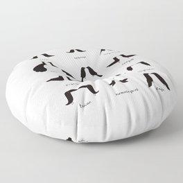 Birdstache Floor Pillow