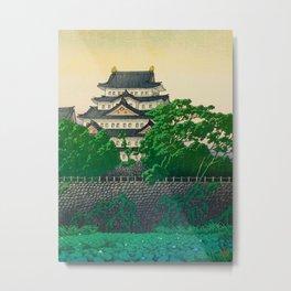 Kawase Hasui Vintage Japanese Woodblock Print Nagoya Castle Metal Print