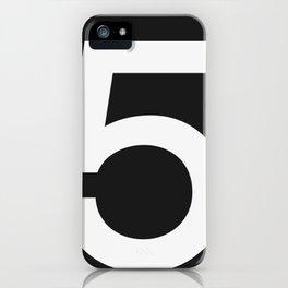 No. 5 — Black iPhone Case