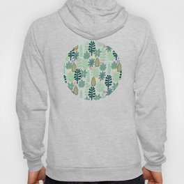 Mid Century Inspired Garden Of Greenery Hoody