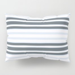 Light Baby Blue and white grey stripes Pillow Sham