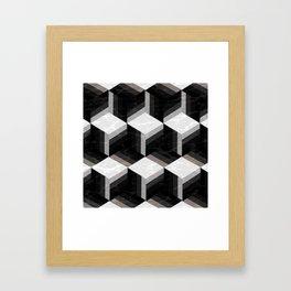 Hex Mess Framed Art Print