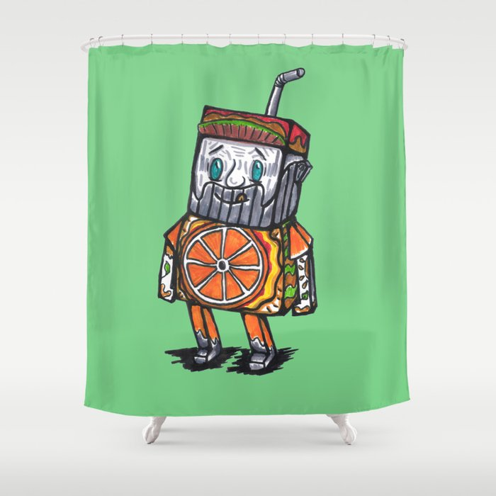 Paper toy juicy Shower Curtain
