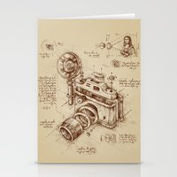 leo Stationery Cards featuring Moment Catcher by Enkel Dika