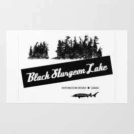 Black Sturgeon Lake (black) Rug
