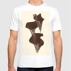 Brown Calla Lilly. MEDIUM White Mens Fitted Tee