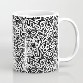 Numbers pattern in black and white Coffee Mug