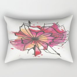 Pink and yellow Flower Explosion  Rectangular Pillow