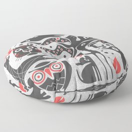 Forest and animals illustration Floor Pillow