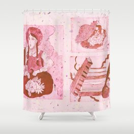 Anne of Green Gables Red Shower Curtain