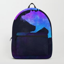 RACCOON IN SPACE // Animal Graphic Art // Watercolor Canvas Painting // Modern Minimal Cute Backpack