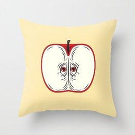 Anxiety Apple Throw Pillow