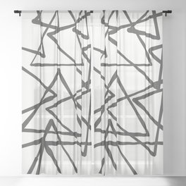 TRIANGLES Sheer Curtain