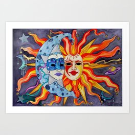 Celestial Comedy and Tragedy Art Print