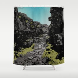 Iceland: Pingvellir Shower Curtain