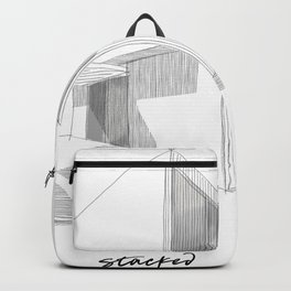Cubic House No.1 - minimalist architecture - sketch art Backpack