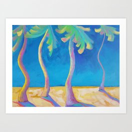 DANCING PALMS Art Print