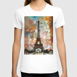 The Eiffel Tower - Paris France Art By Sharon Cummings T-shirt