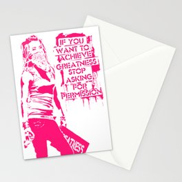 If you want to achieve greatness stop asking ... Stationery Cards
