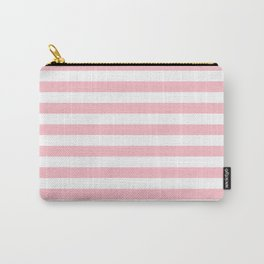 Horizontal Stripes (Pink/White) Carry-All Pouch