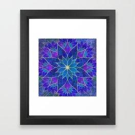 Lotus 2 - blue and purple Framed Art Print