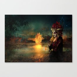 Setting the world on fire Canvas Print